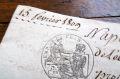 フランスアンティーク 古文書マニュスクリ 1809年