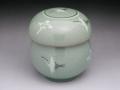 青磁(鶴紋) 1人用蓋付茶器