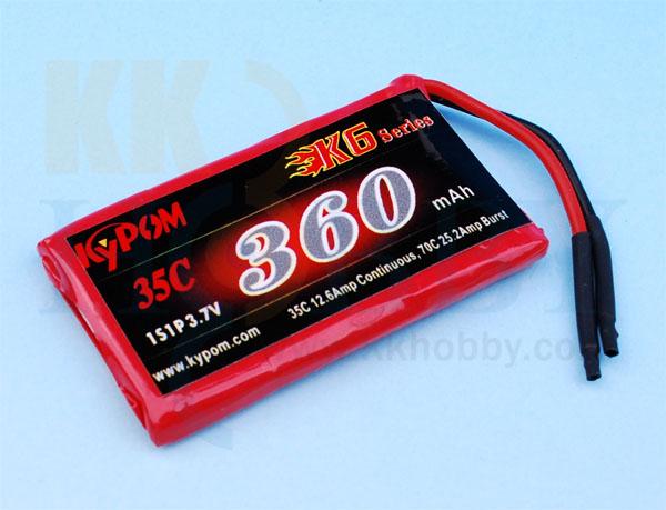 リポバッテリー KYPOM K6 3.7V 360mA 35C-70C