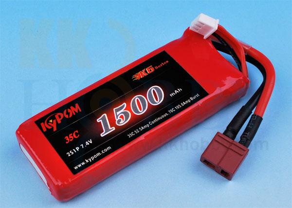 リポバッテリー KYPOM K6 7.4V 1500mA 35C-70C