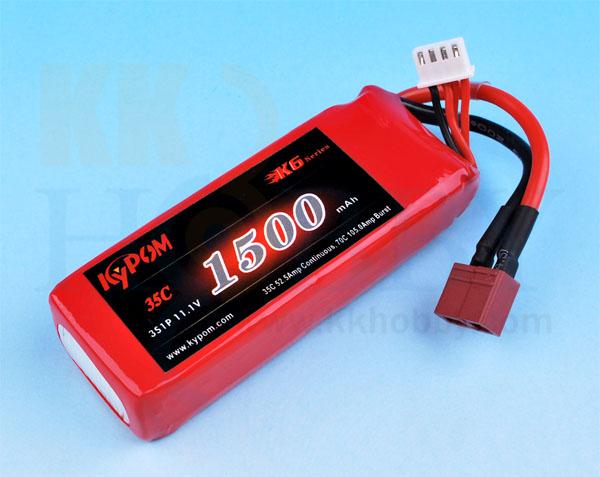 リポバッテリー KYPOM K6 11.1V 1500mA 35C-70C