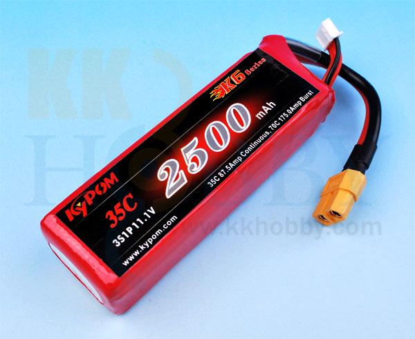 リポバッテリー KYPOM K6 11.1V 2500mA 35C-70C