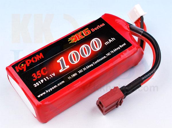 リポバッテリー KYPOM K6 11.1V 1000mA 35C-70C