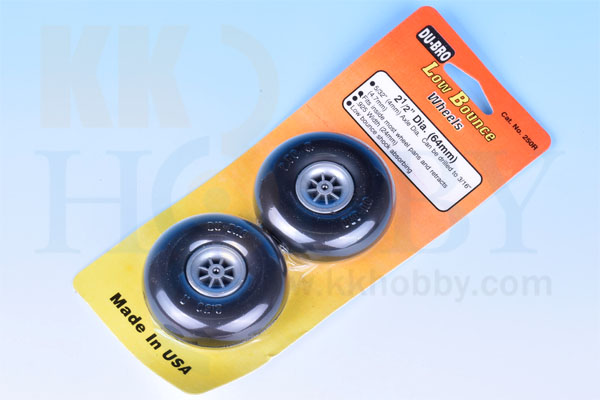 DU-BRO Low Bounce wheels 2-1/2インチ(64mm)