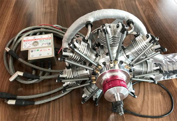 UMS Evolution Gas Engine 7気筒 35cc (CDI付きフルセット)
