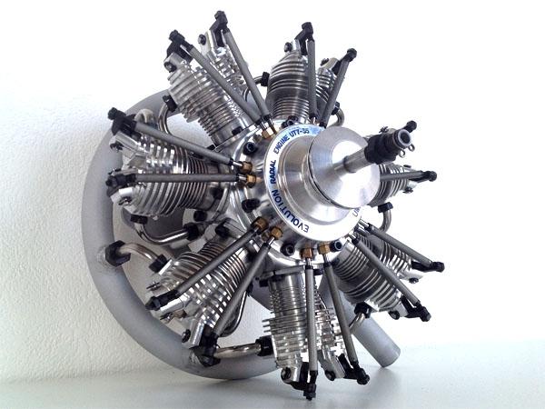 UMS Evolution Glow Engine 7気筒 35cc