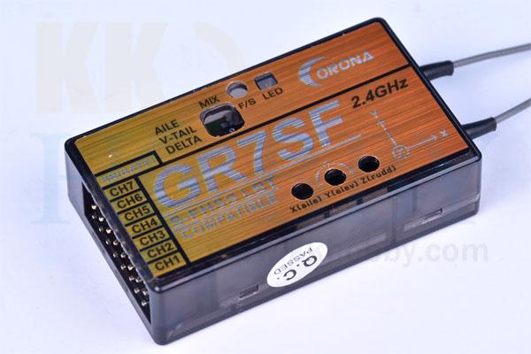 コロナ GR7SF (ジャイロ付FASST互換2.4G受信機)