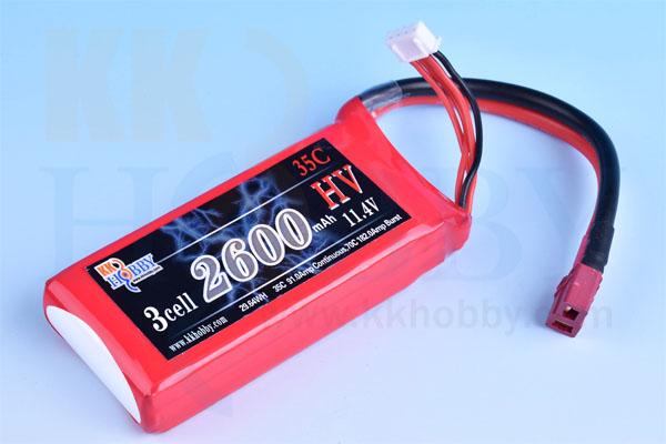 ハイボルテージ KKHOBBY 11.4V 2600mA 35C-70C