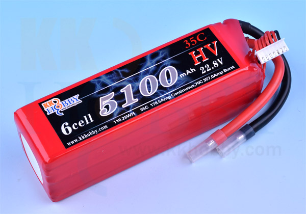 ハイボルテージ KKHOBBY 22.8V 5100mA 35C-70C