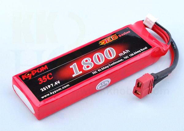 リポバッテリー KYPOM K6 7.4V 1800mA 35C-70C