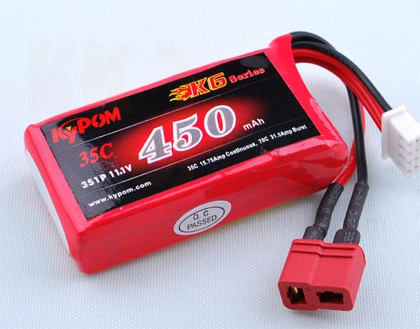 リポバッテリー KYPOM K6 11.1V 450mA 35C-70C