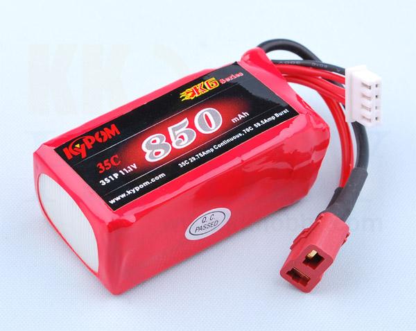 リポバッテリー KYPOM K6 11.1V 850mA 35C-70C