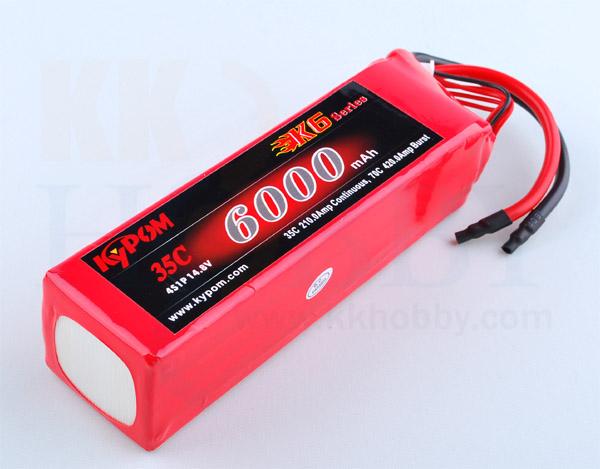 リポバッテリー KYPOM K6 14.8V 6000mA 35C-70C