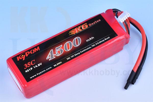 リポバッテリー KYPOM K6 14.8V 4500mA 35C-70C