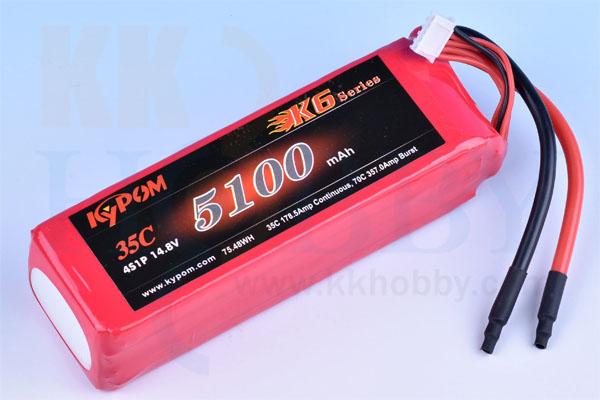 リポバッテリー KYPOM K6 14.8V 5100mA 35C-70C
