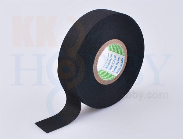 ニット- アセテート布粘着テープ No.5 黒 (19mm x 20m)