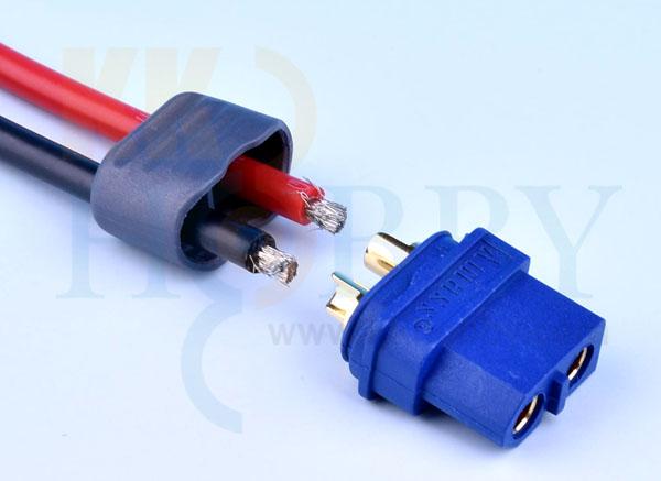 プロテクトキャップ付きXT60コネクター(メス:ブルー)
