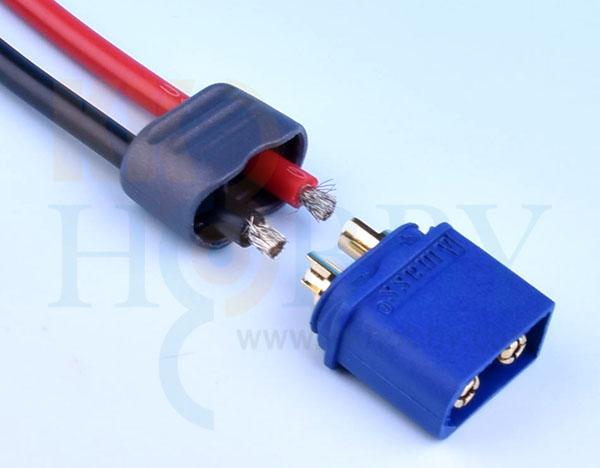 プロテクトキャップ付きXT60コネクター(オス:ブルー)