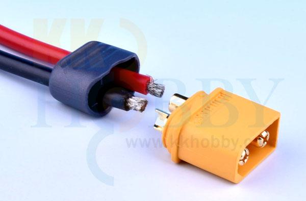 プロテクトキャップ付きXT60コネクター(オス:イエロー)