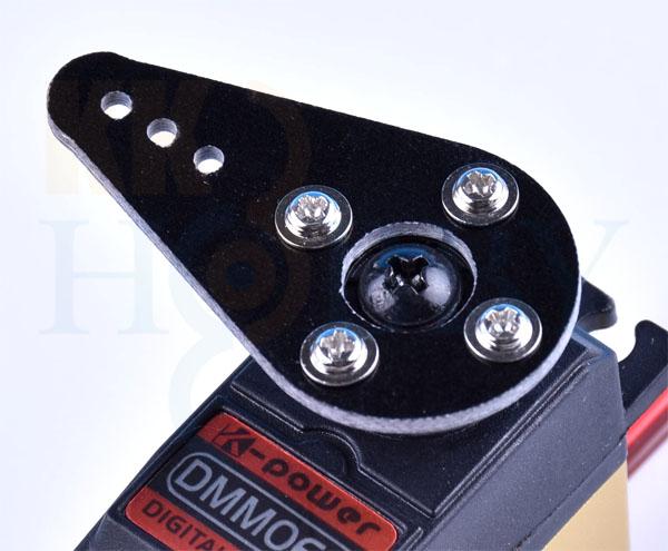 グラスシングルサーボアーム 42mm(Aタイプ:黒)