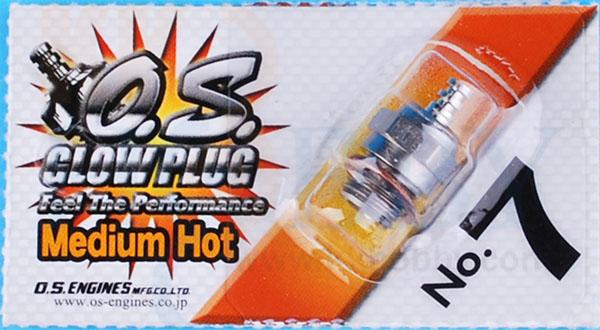 OSグロープラグ No.7 Medium Hot