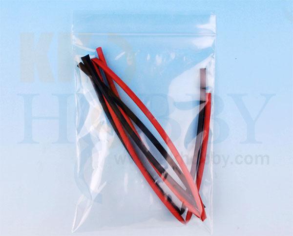 シュリンクチューブ 3mm(赤、黒 各50cm)
