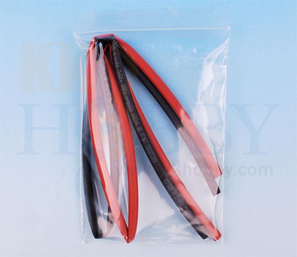 シュリンクチューブ 5mm(赤、黒 各50cm)