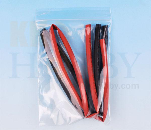シュリンクチューブ 6mm(赤、黒 各50cm)