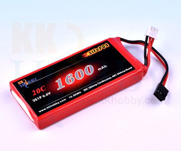 受信機用LiFeバッテリー KKHOBBY 6.6V 1600mA