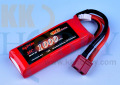 【72x26x15mm】 リポバッテリー KYPOM K6 7.4V 1000mA 35C-70C