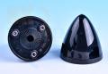 3枚ブレード用スピナー 直径2 1/2インチ(53mm)ブラック
