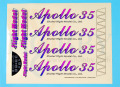 Apollo 35 EP/GP用ステッカー