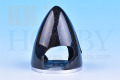 カーボンアルミバックプレートスピナー 直径1.75インチ(45mm)