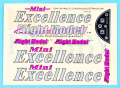 Mini Excellence用ステッカー