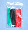 【特価品  10袋セット】 シュリンクチューブ 3.5mm(赤、黒、緑各50cm)