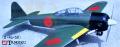 テトラ 零戦 二二型 0-4C-50 フラップ付 (バルサキット)
