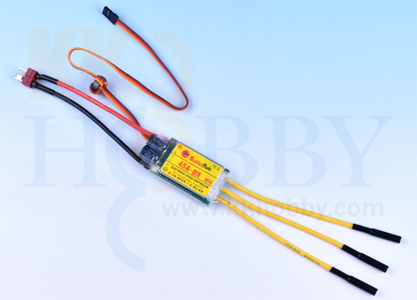 Sunrisemodel 45A PRO SBEC 6A ブラシレスESC(コネクター付き)
