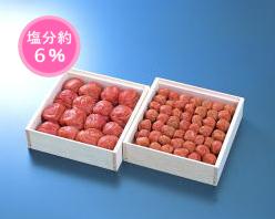 【送料無料】梅富久良セット 大梅380g・小梅350g(木箱)