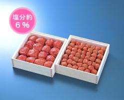 【送料無料】梅富久良セット 大梅380g木箱・小梅350g木箱