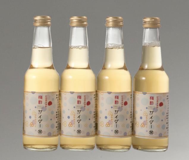 【まとめ買いがお得】梅酢サイダー (はちみつ入り)  250ml×4本
