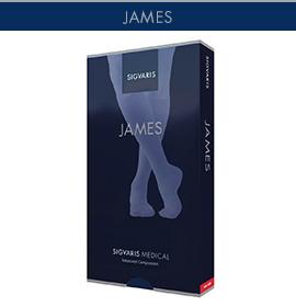 【男性用弾性ソックス】 ジェームス 圧迫力:31~43hPa(23~32mmHg)【2足以上で送料無料】
