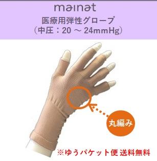【ゆうパケット便送料無料】 マイナット 医療用弾性丸編みグローブ