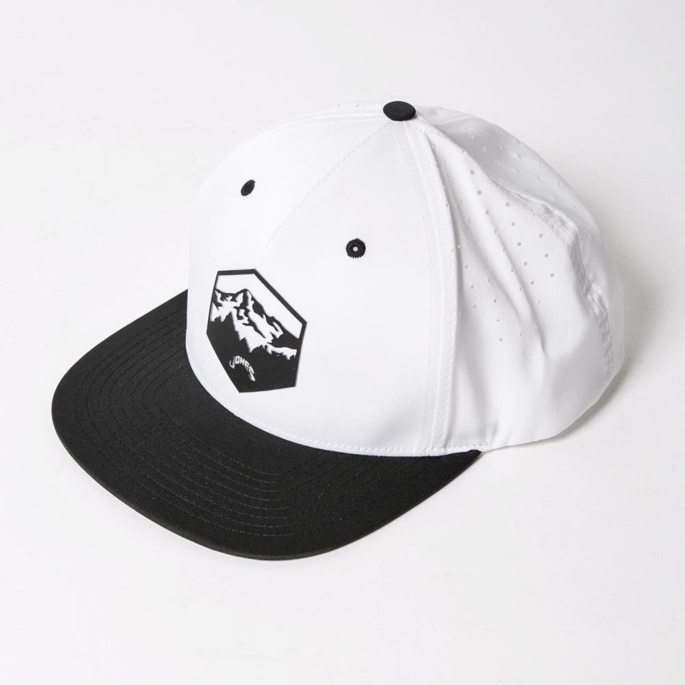 JONES Flat CAP Oregon Mountain Punching White & Black