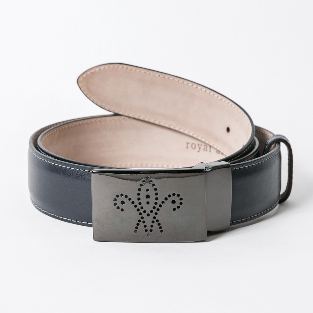 ROYAL ALBARTROSS MEN'S Belt THE DUKE Navy Black Buckle