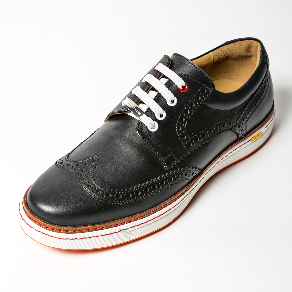 ROYAL ALBARTROSS MEN'S Golf Shoes CLUB BROGUE  Black