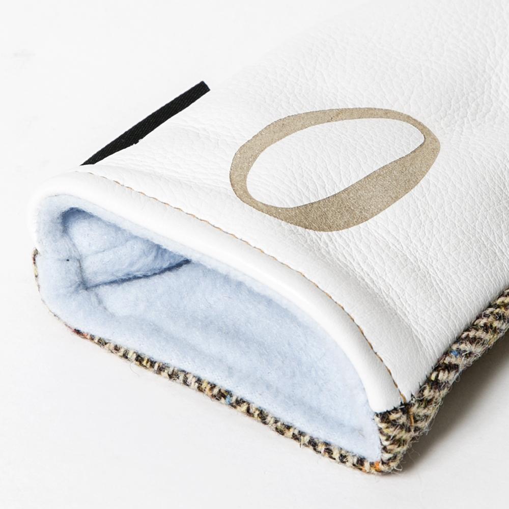 SEAMUS Hybrid Cover O Glen Plaid White Leather