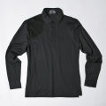 G/FORE Men's Long Sleeve Panel Polo Onyx