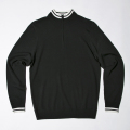 G/FORE Men's 12 Gauge Zip Sweater Onyx Black