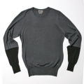 G/FORE Blocked Crew Sweater Charcoal