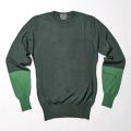 G/FORE Blocked Crew Sweater Pine